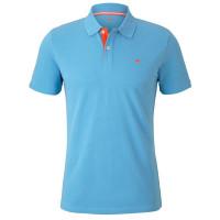 Polo Tom Tailor bleu clair en coupe classique