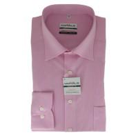 Chemise Marvelis COMFORT FIT CHAMBRAY rose avec col Nouveau Kent en coupe classique