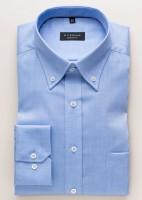 Chemise Eterna COMFORT FIT BEAUX OXFORD bleu moyen avec col Button Down en coupe classique