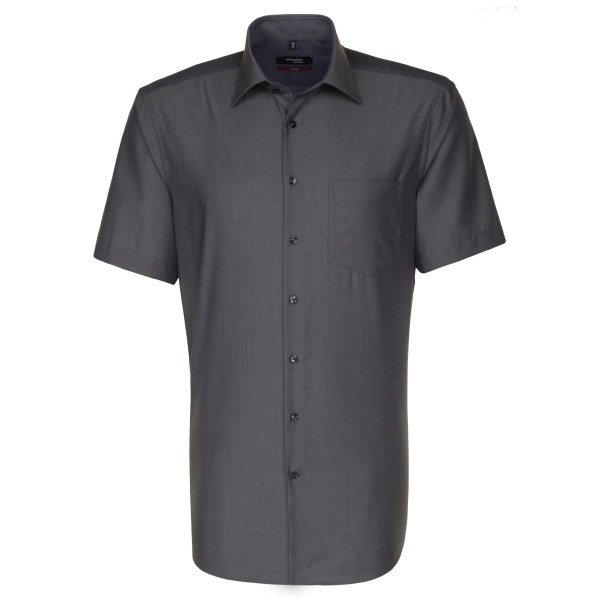 Chemise Seidensticker REGULAR FIL À FIL anthracite avec col Business Kent en coupe moderne