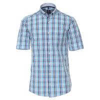 Chemise Redmond COMFORT FIT UNI POPELINE bleu clair avec col Button Down en coupe classique