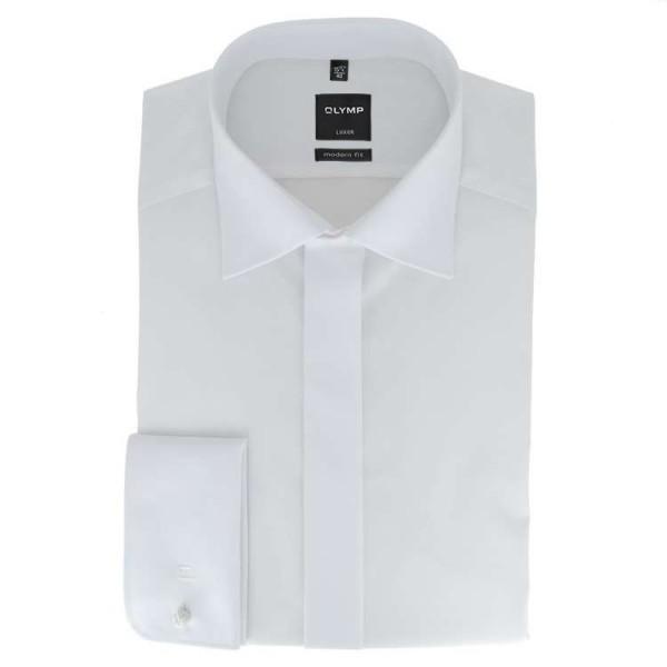 Chemise Eterna COMFORT FIT TWILL blanc avec col Classic Kent en coupe classique