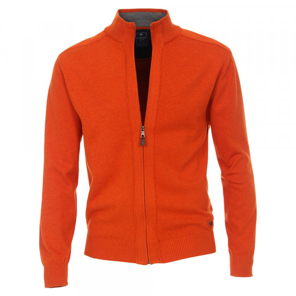Cardigan Redmond orange en coupe classique
