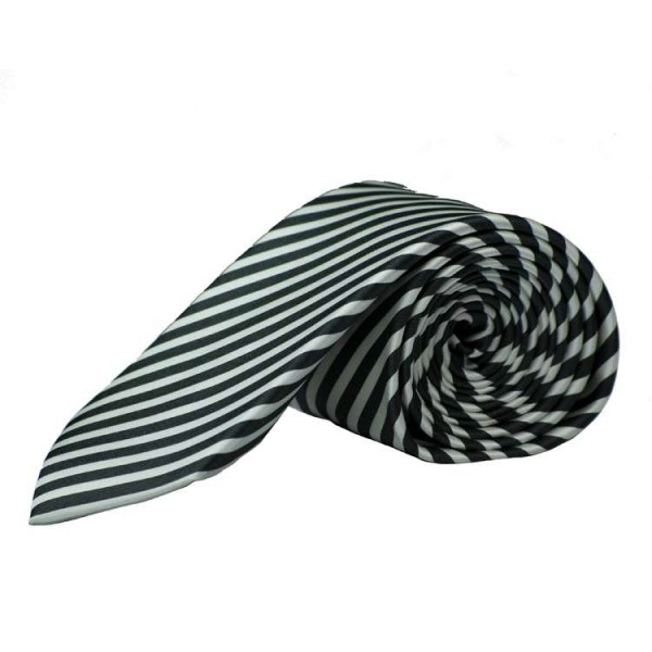 Cravate Olymp noire rayé