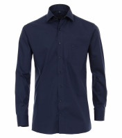 Chemise CASAMODA MODERN FIT UNI POPELINE bleu foncé avec col Kent en coupe moderne