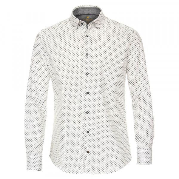Chemise Redmond MODERN FIT UNI POPELINE gris avec col Button Down en coupe moderne