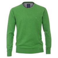 Pull Redmond vert en coupe classique