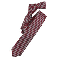Cravate Venti rouge foncé rayé