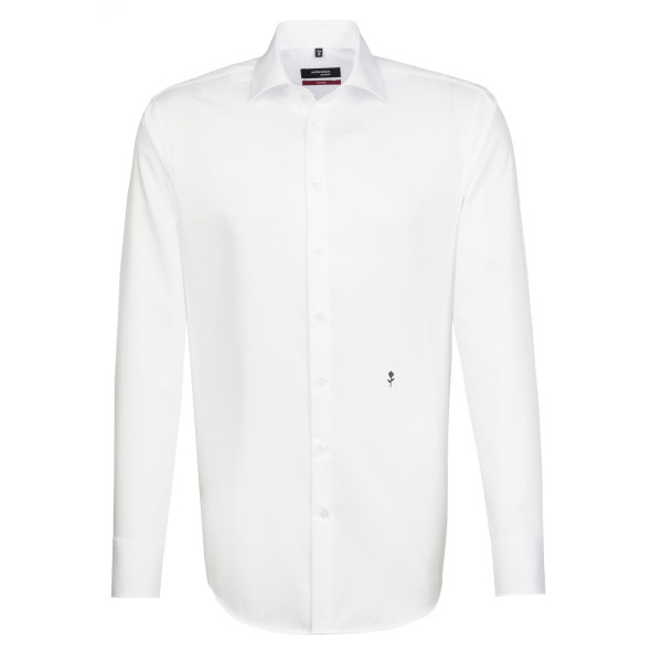Chemise Seidensticker REGULAR ORIGINAL blanc avec col Business Kent en coupe moderne