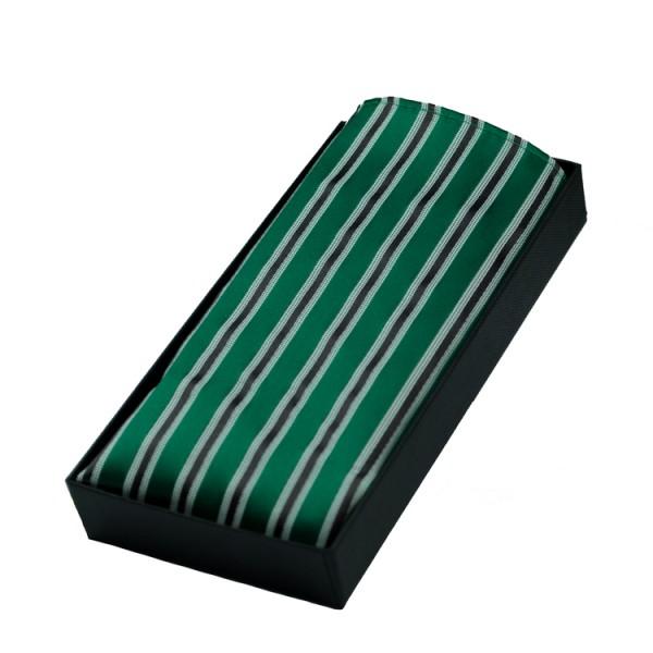 Pochette Parsley verte à rayures