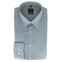 Chemise OLYMP Level Five body fit CHAMBRAY gris avec col New York Kent en coupe étroite