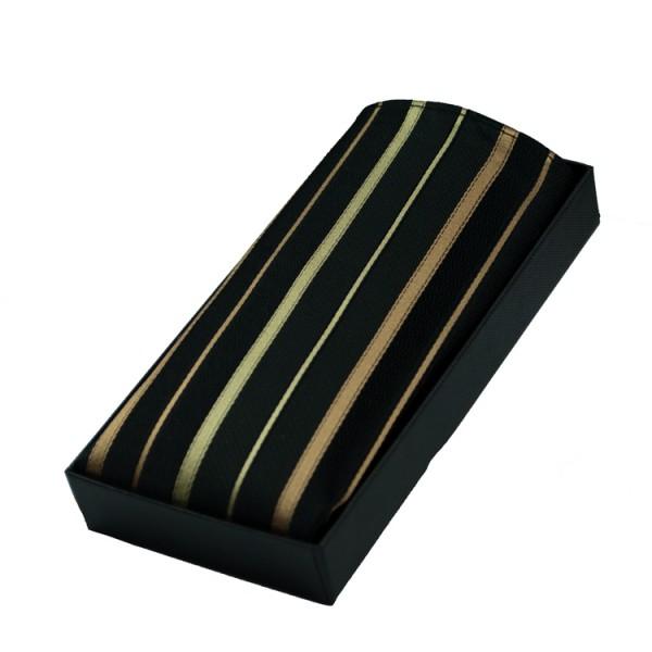Pochette Parsley noire à rayures