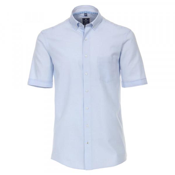 Chemise Redmond COMFORT FIT TWILL bleu clair avec col Button Down en coupe classique