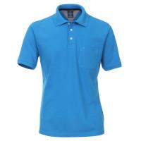 Polo Redmond bleu moyen en coupe classique