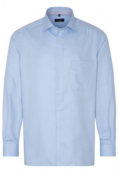Chemise Eterna COMFORT FIT STRUCTURE bleu clair avec col Classic Kent en coupe classique