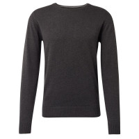 Pull Tom Tailor anthracite en coupe classique