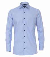 Chemise CASAMODA COMFORT FIT STRUCTURE bleu clair avec col Kent en coupe classique