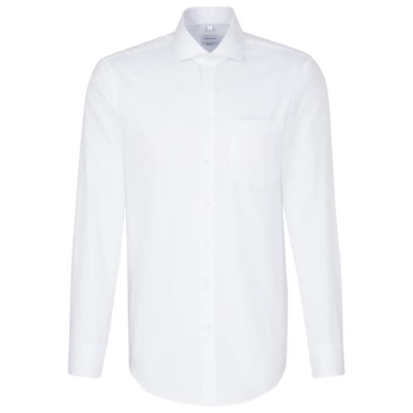 Chemise Seidensticker REGULAR BEAUX OXFORD blanc avec col Spread Kent en coupe moderne