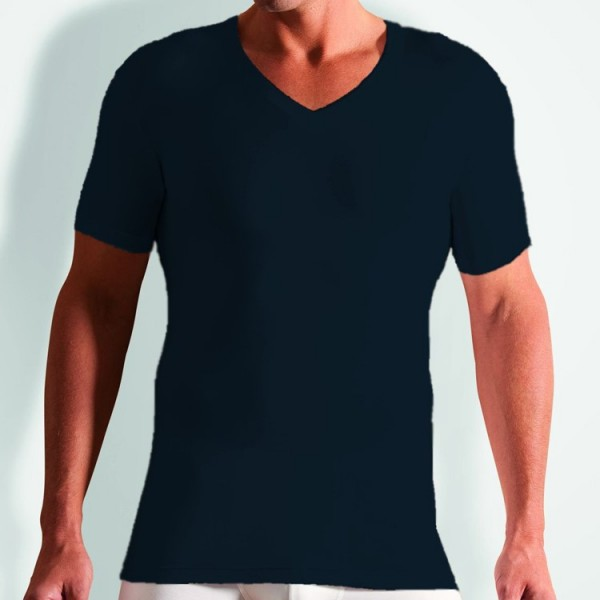 "Novila ""STRETCH COTTON"" T-shirt bleu foncé"