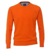 Pull Redmond orange en coupe classique