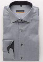 Chemise Eterna SLIM FIT UNI STRETCH gris avec col Classic Kent en coupe étroite
