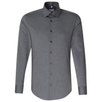 Chemise Seidensticker SLIM FIT FIL À FIL anthracite avec col Business Kent en coupe étroite
