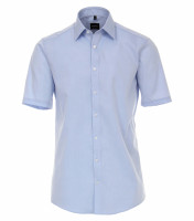 Chemise Venti MODERN FIT UNI POPELINE bleu clair avec col Kent en coupe moderne