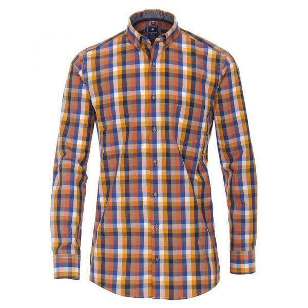 Chemise Redmond COMFORT FIT PRINT orange avec col Button Down en coupe classique